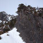 錫杖岳中央稜